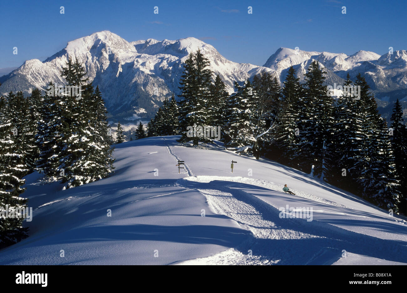 Toter Mann (Dead Man Mountain), view toward Mount High Goell, Berchtesgadener Alpen (Berchtesgaden Alps), Oberbayern Stock Photo