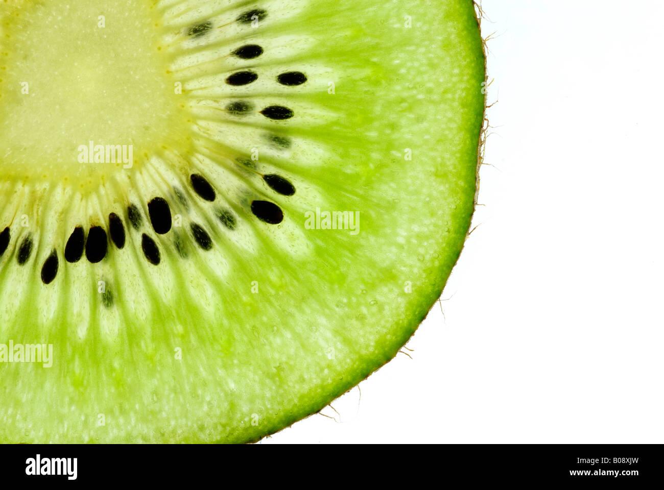 Cross section of a kiwi Stock Photo