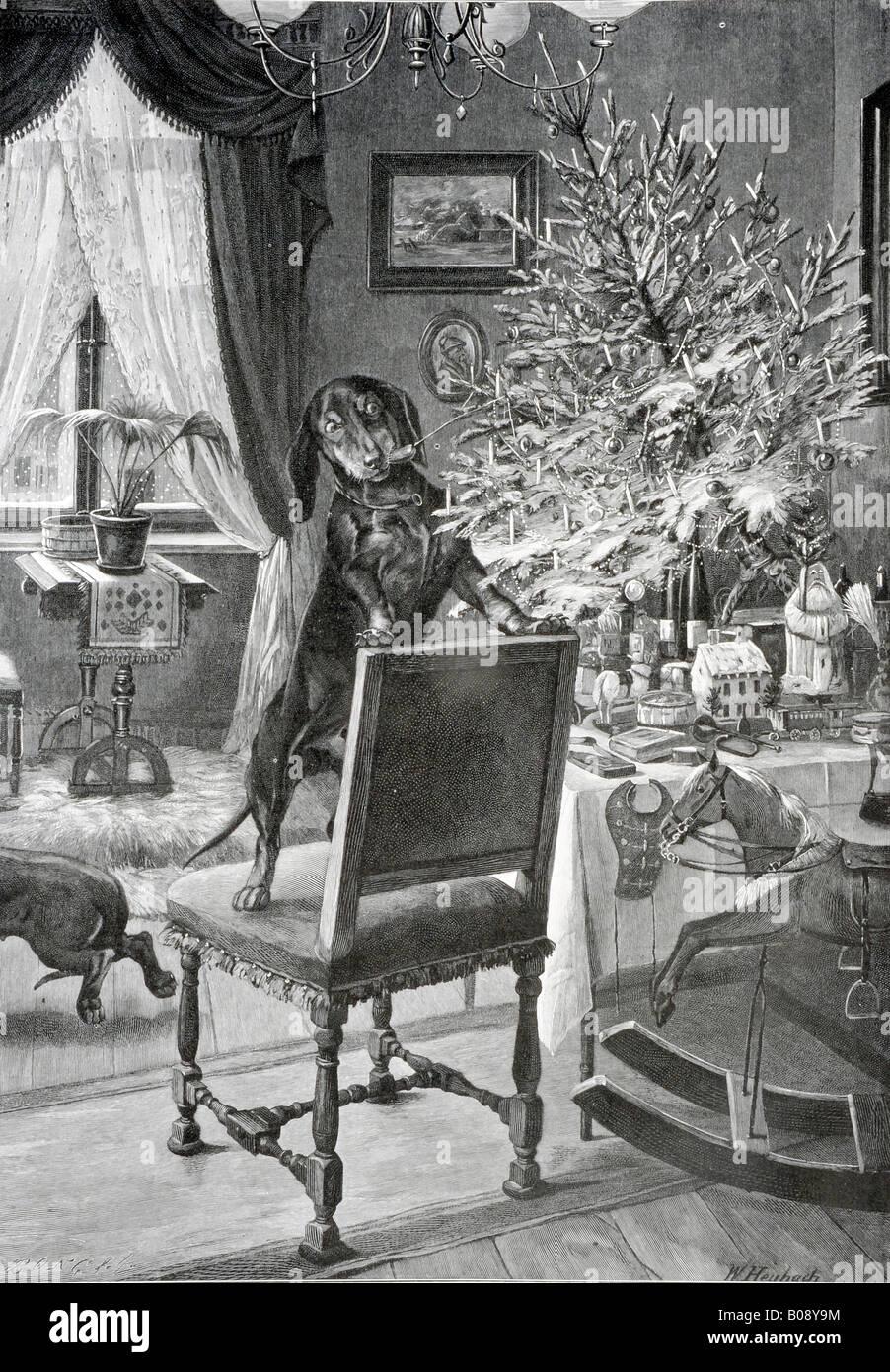 'Baumfrevel, ' woodcut from 'Moderne Kunst in Meisterholzschnitten' 1903 - Stock Image