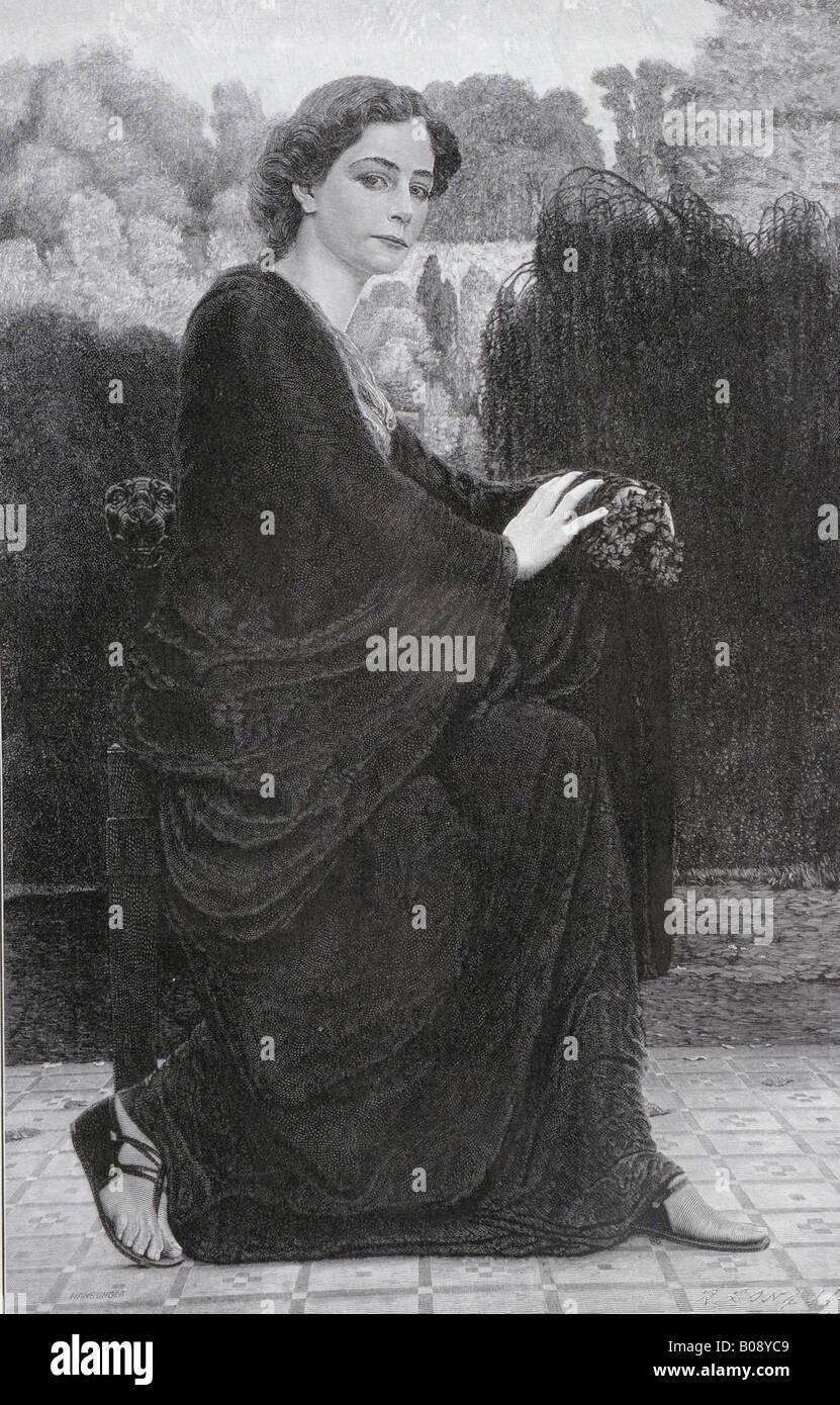 'Welken' ('Withering'), woodcut from 'Moderne Kunst in Meisterholzschnitten' 1903 - Stock Image