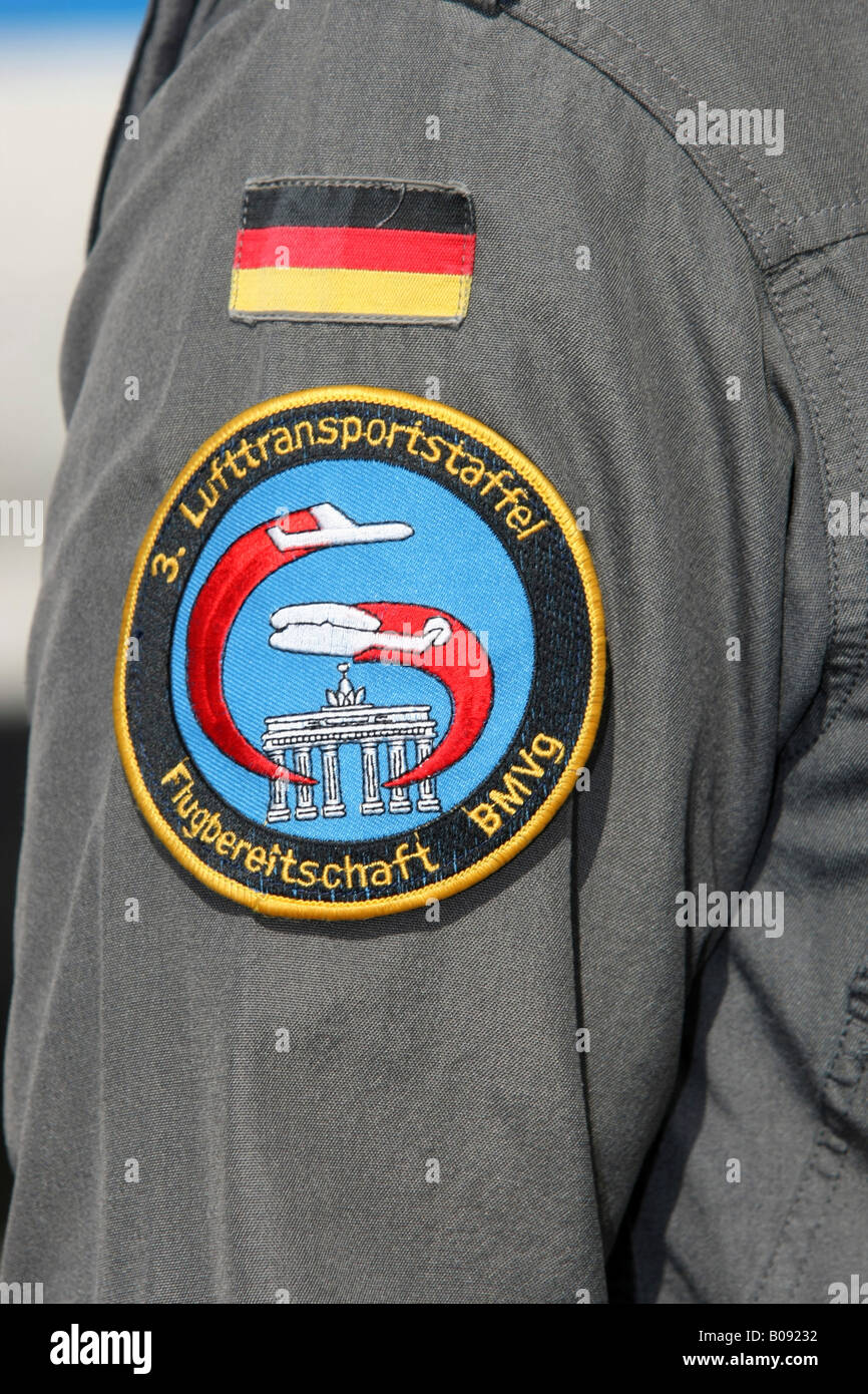 Sleeve patch or insignia of the Flugbereitschaft, German Air Force VIP-squadron - Stock Image