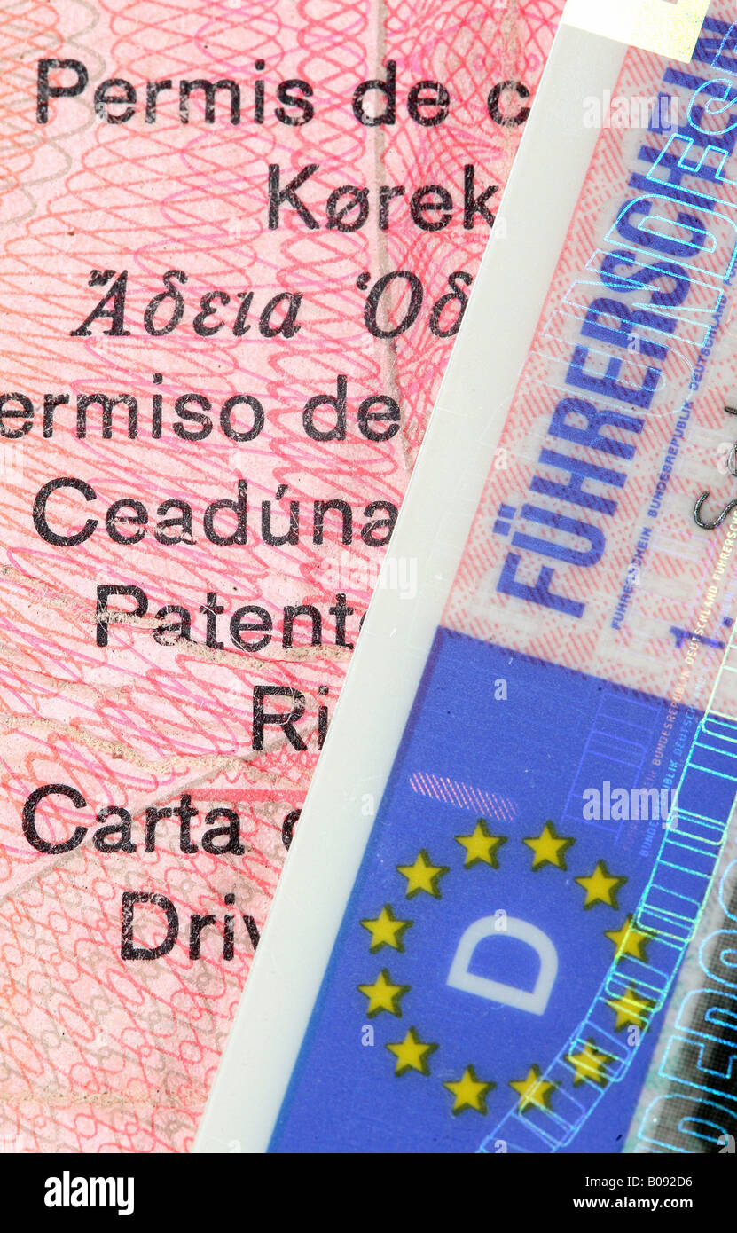 German EU driver's licence - Stock Image