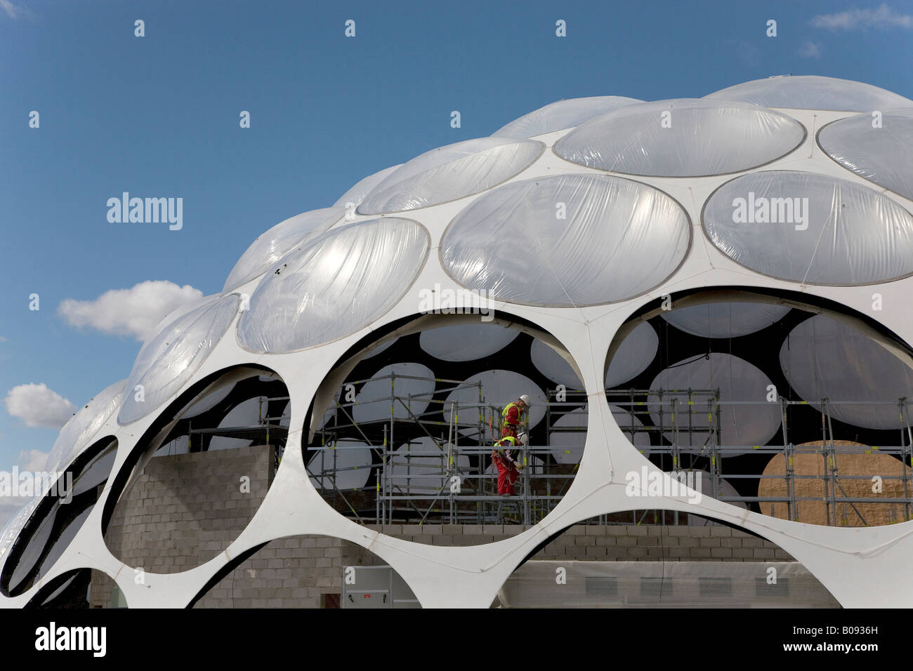 'Thirst' themed area building site at the Expo 2008 grounds, Zaragoza, Saragossa, Aragon, Spain - Stock Image