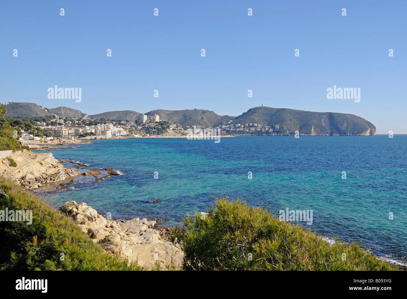 Coast, Moraira, Alicante, Costa Blanca, Spain - Stock Image