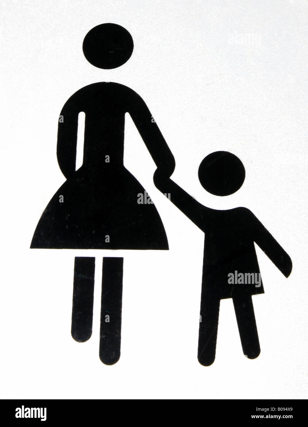 Symbol Mother And Child Stock Photo 17411809 Alamy