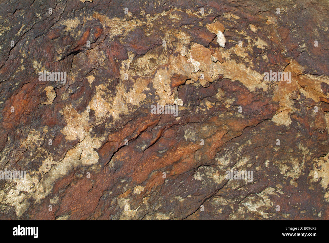 Textured rock surface, Sandersee, Hohe Tauern National Park, Carinthia, Austria - Stock Image