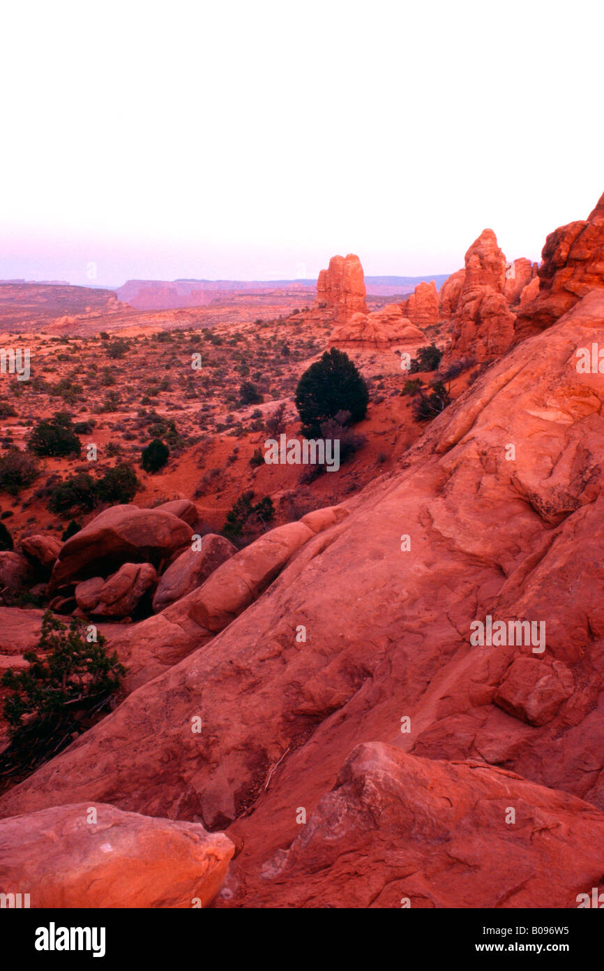 View through Noth Window, Arches National Park, Utah, USA - Stock Image