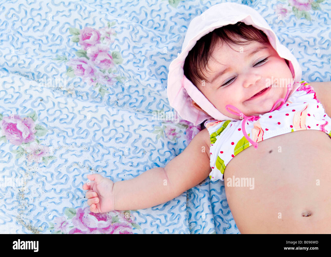 Close up of baby in bathing suit Stock Photo: 17413353 - Alamy