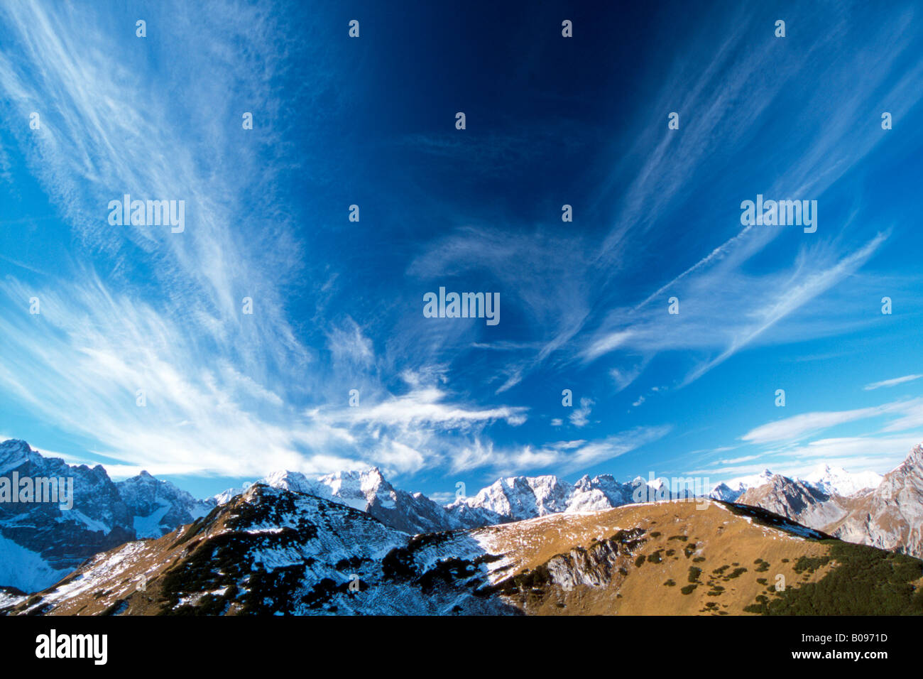 Foehn wind, Karendel Range, Tyrol, Austria, Europe - Stock Image