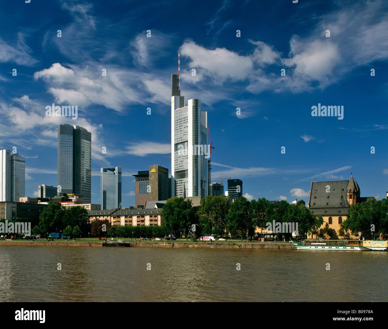 Skyline, Banking Quarter, Frankfurt, Germany - Stock Image