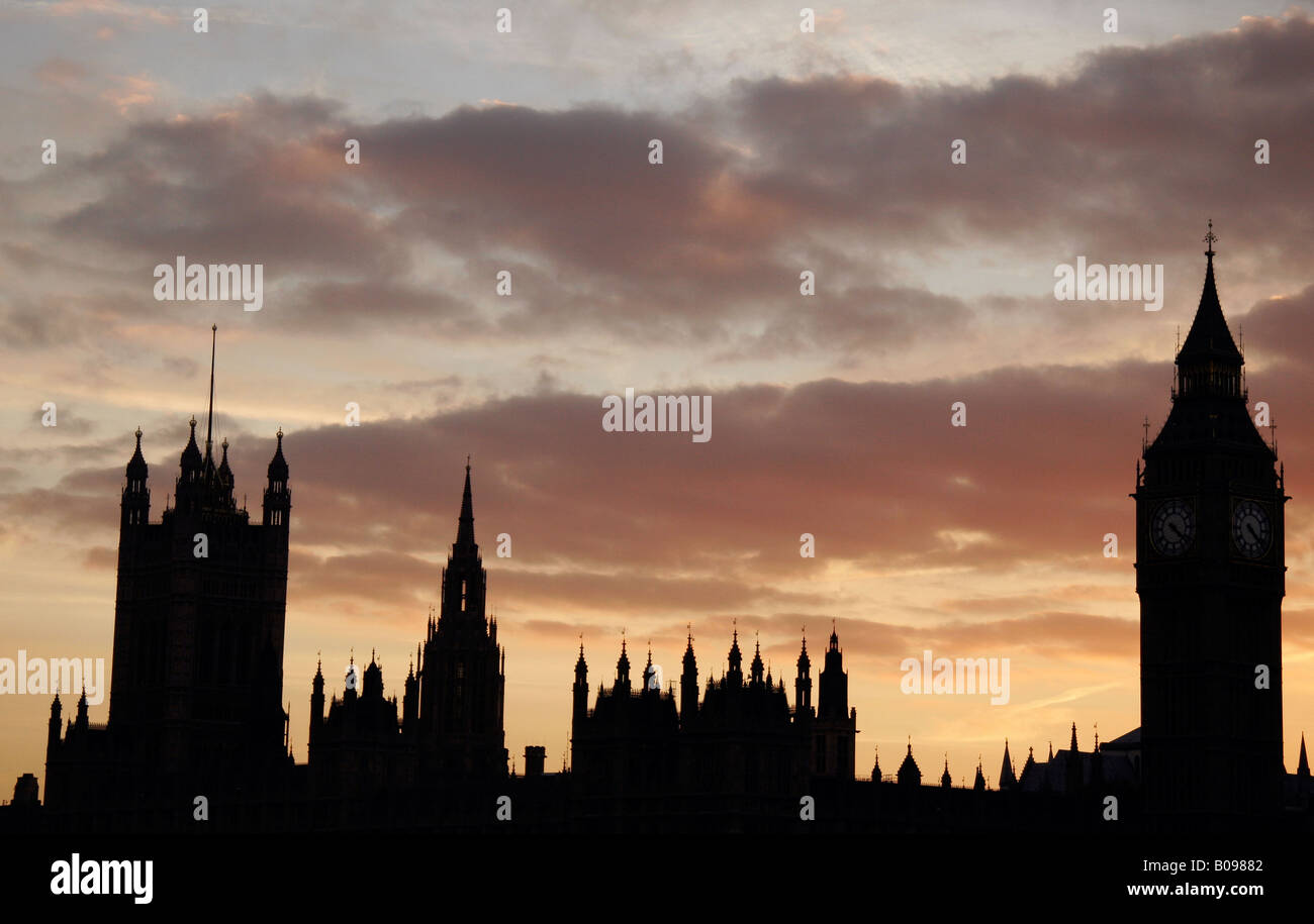 The Houses of Parliament, London, England, Europe - Stock Image