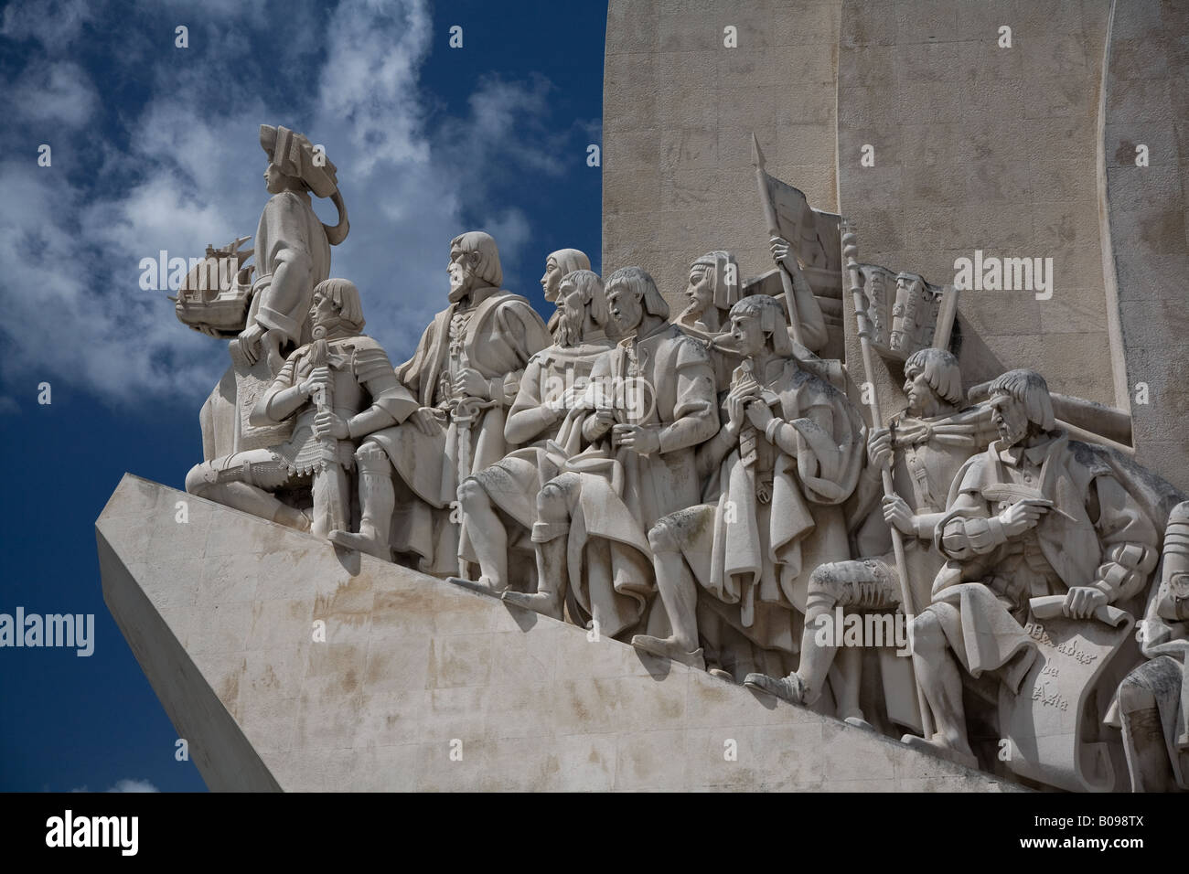 Monument to the Discoveries, located in the Belem District of Lisbon, Portugal. - Stock Image