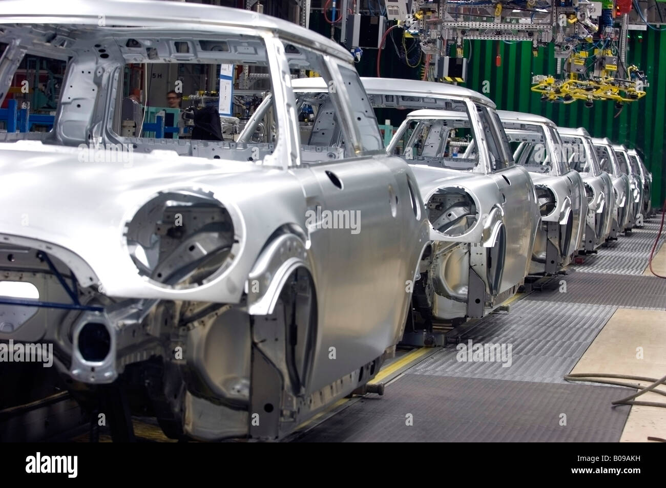 Mini Clubman Production Line At The Bmw Factory At Cowley Oxford Uk