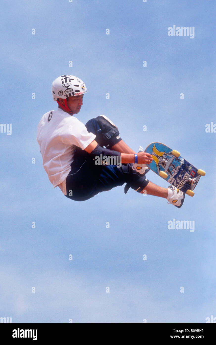 Skate Boarder Doing Trick in the Air During B3 Games Kentucky Derby Festival Louisville Kentucky - Stock Image