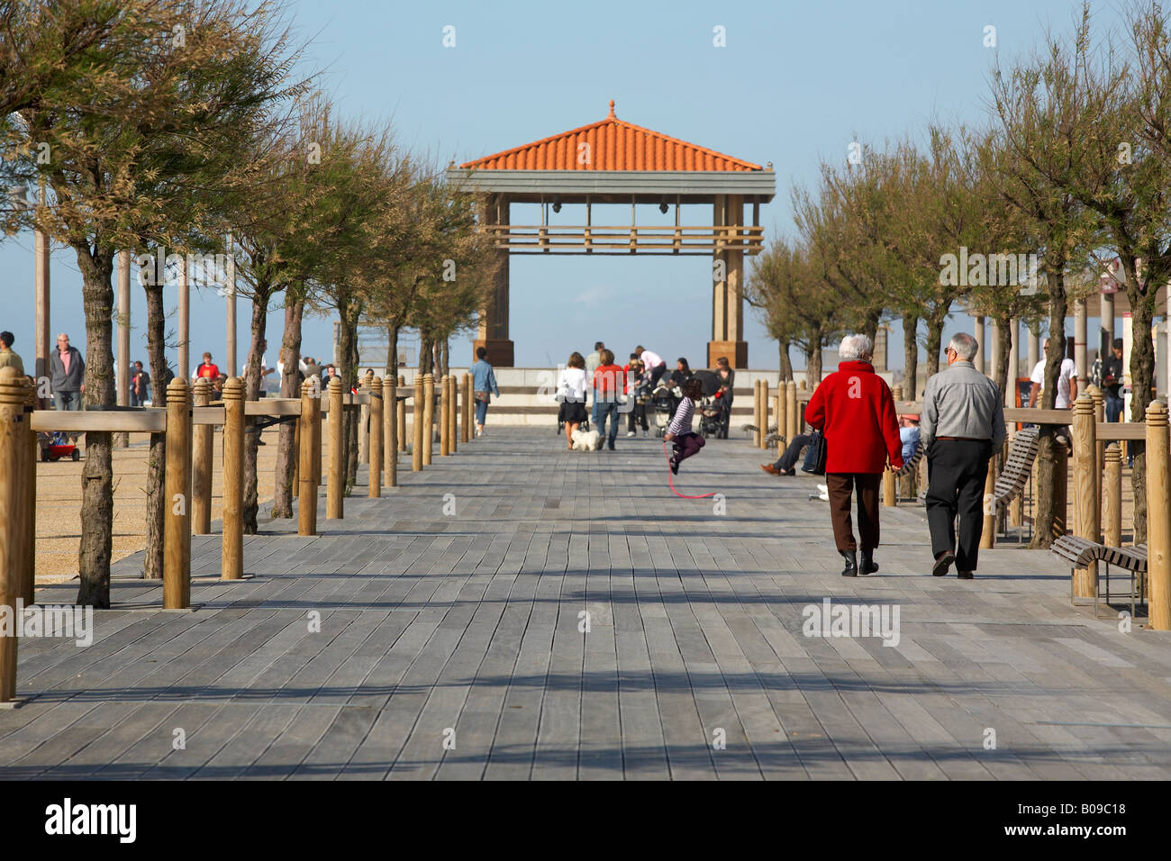 Chambre d Amour promenade in Anglet france - Stock Image