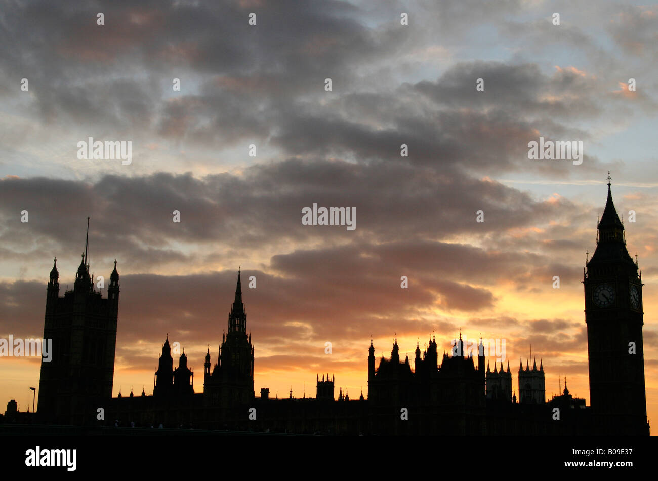 Houses of Parliament, Westminster, London, England - Stock Image