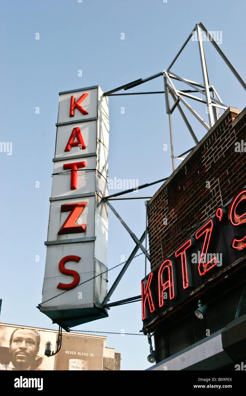 Katzs diner New York Unites States of America. - Stock Image