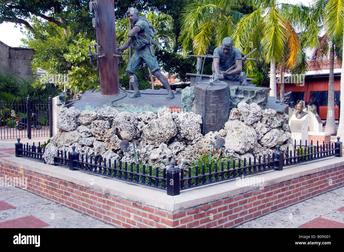 An historic seafaring monument in Key West Florida USA - Stock Image