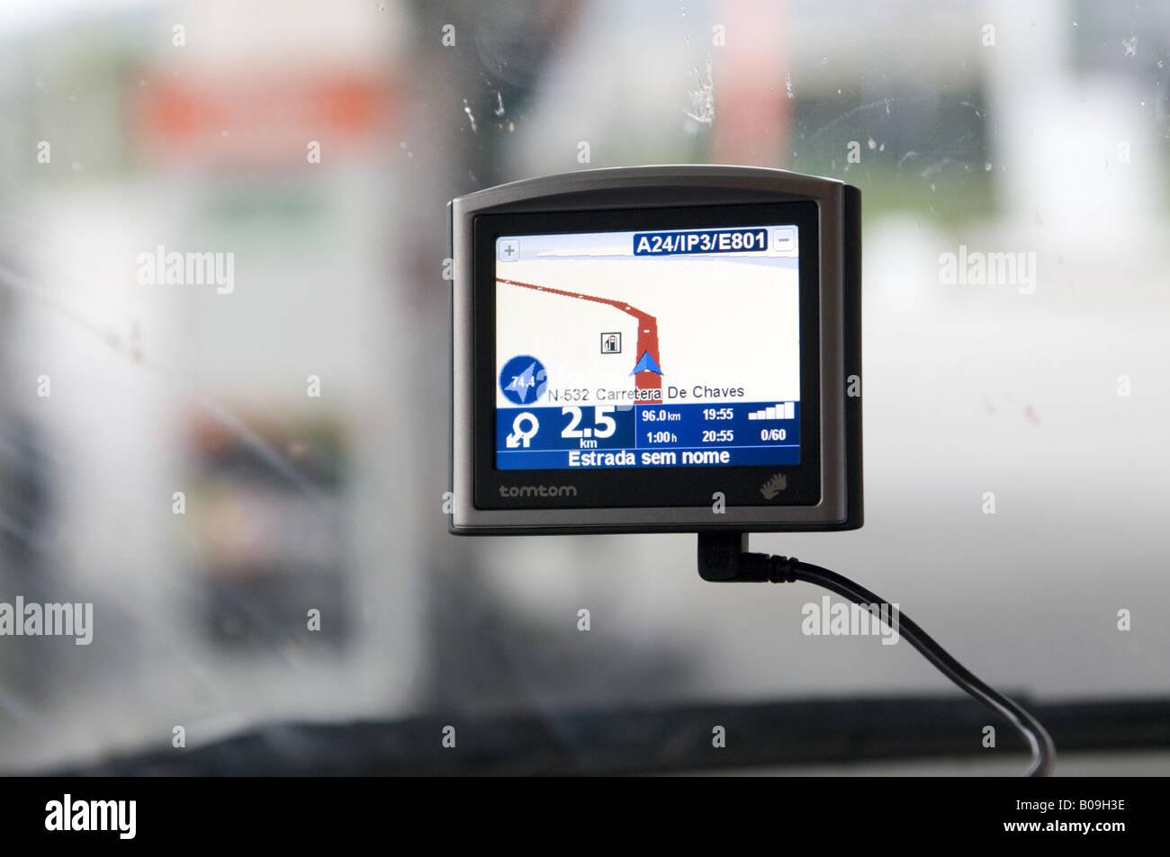 GPS satnav sattelite navigation system - Stock Image