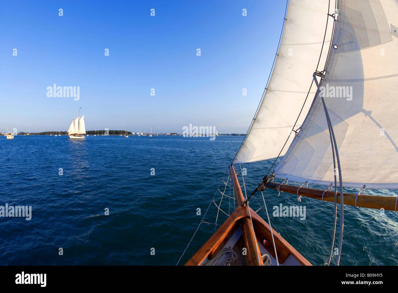Sailing in Key West, Florida, USA - Stock Image