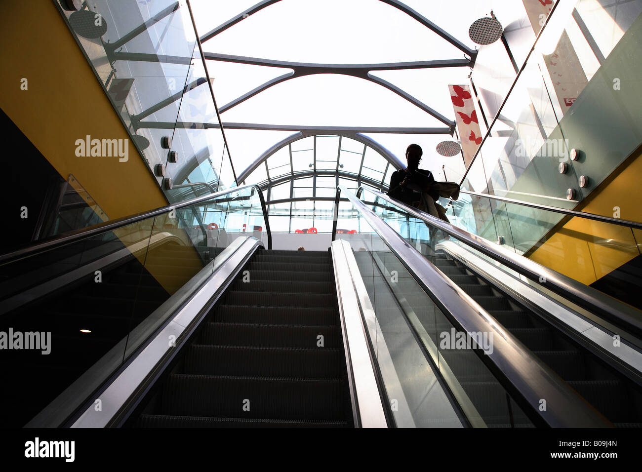 Escalator of the Arena and Conference Centre Liverpool - Stock Image