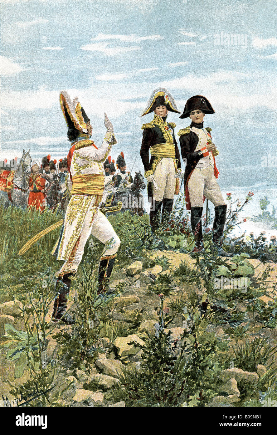 Napoleon and Prince Murat - Stock Image