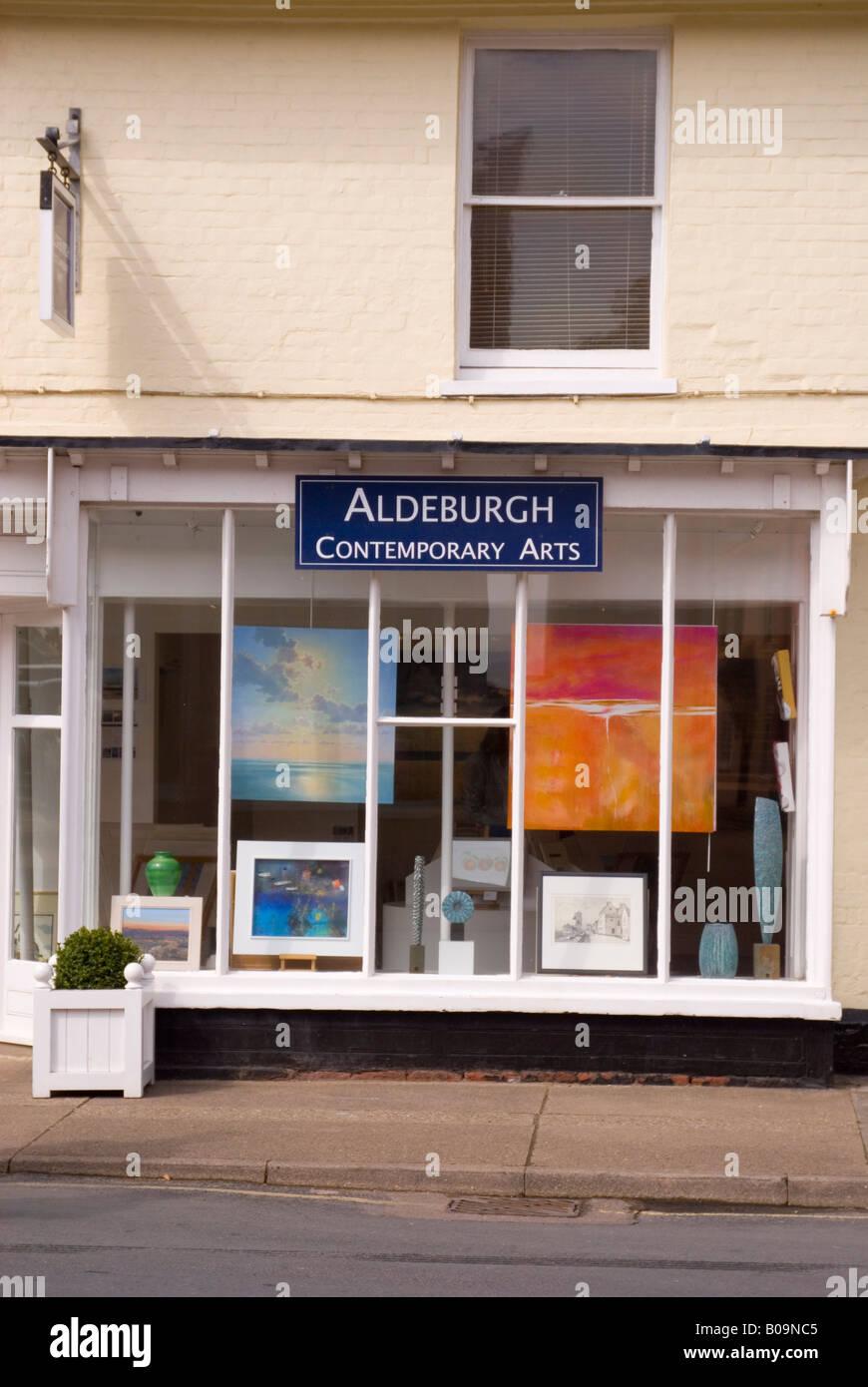 Art Shop At Aldeburgh,Suffolk,Uk - Stock Image