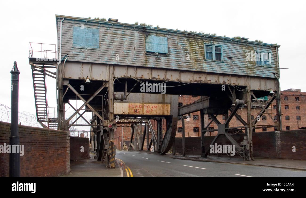 Bridge in Stanley dock Liverpool UK Stock Photo