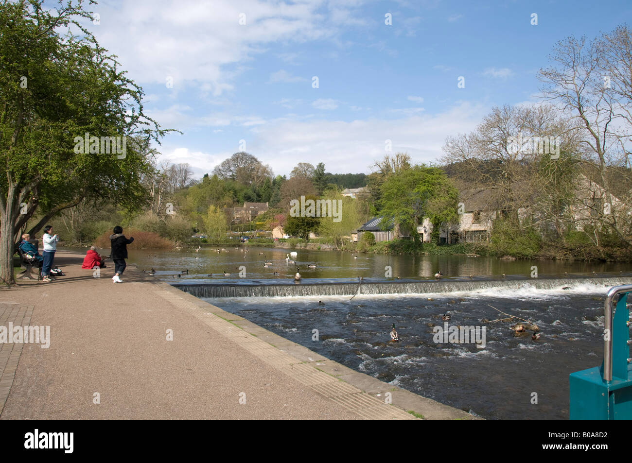 River Wye at Bakewell, Derbyshire - Stock Image