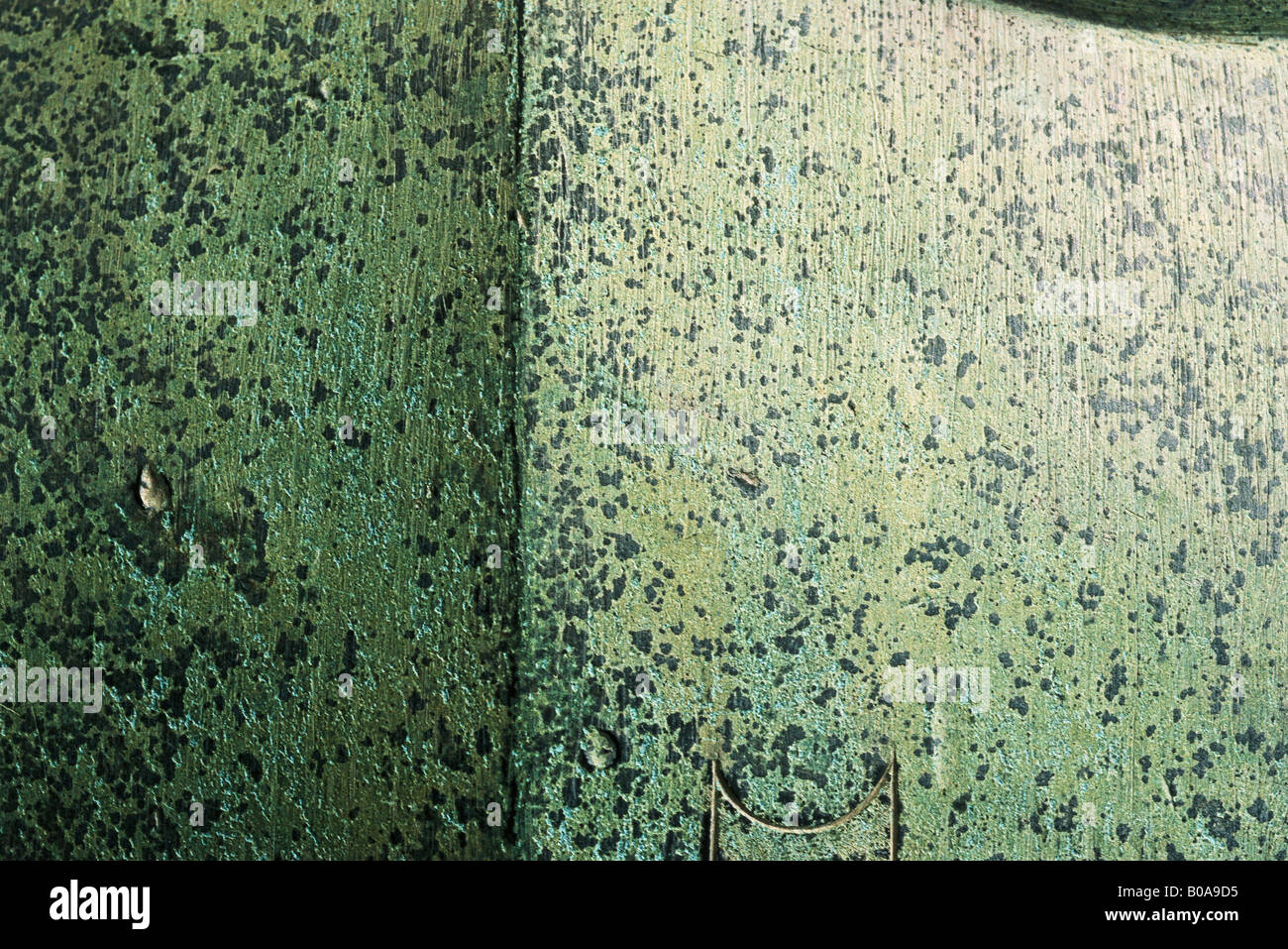Speckled cement wall, full frame - Stock Image