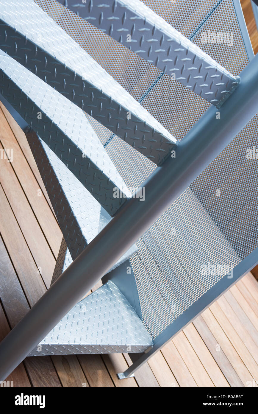 Spiral staircase, cropped view - Stock Image