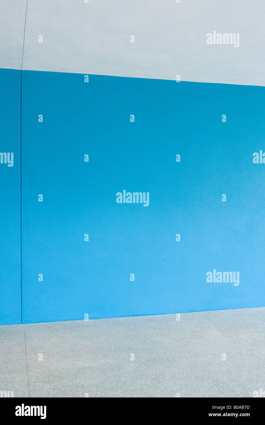 Blue wall - Stock Image