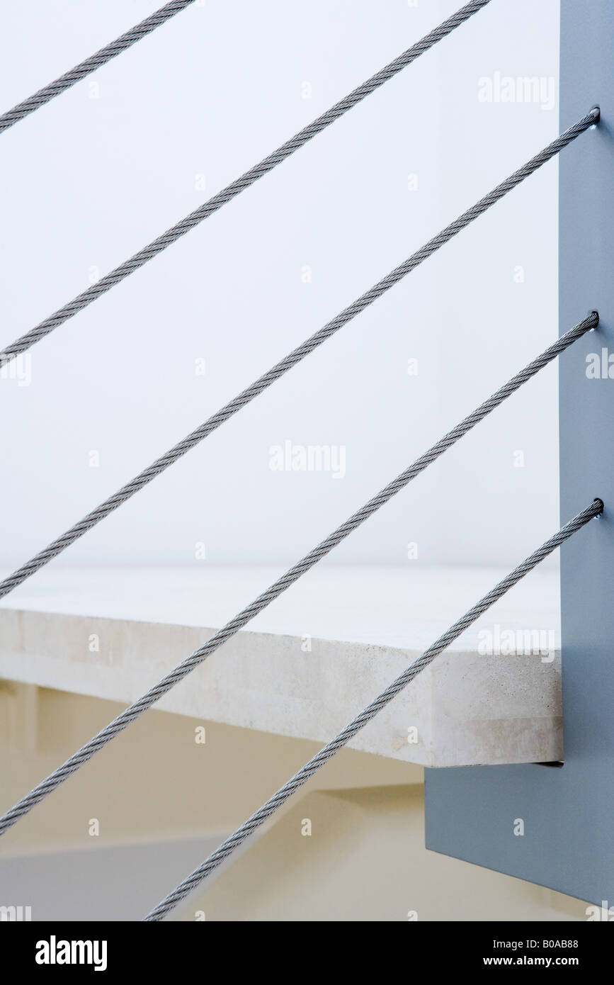 Staircase, extreme close-up - Stock Image