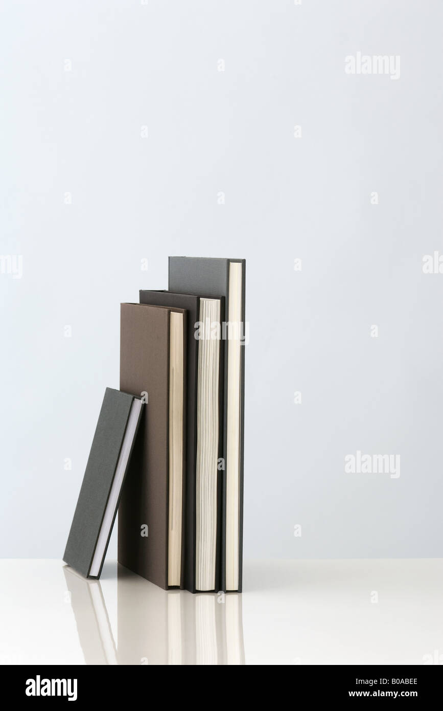 Several books standing on end, close-up - Stock Image