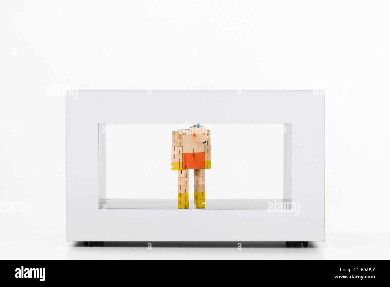 Tall robot toy - Stock Image