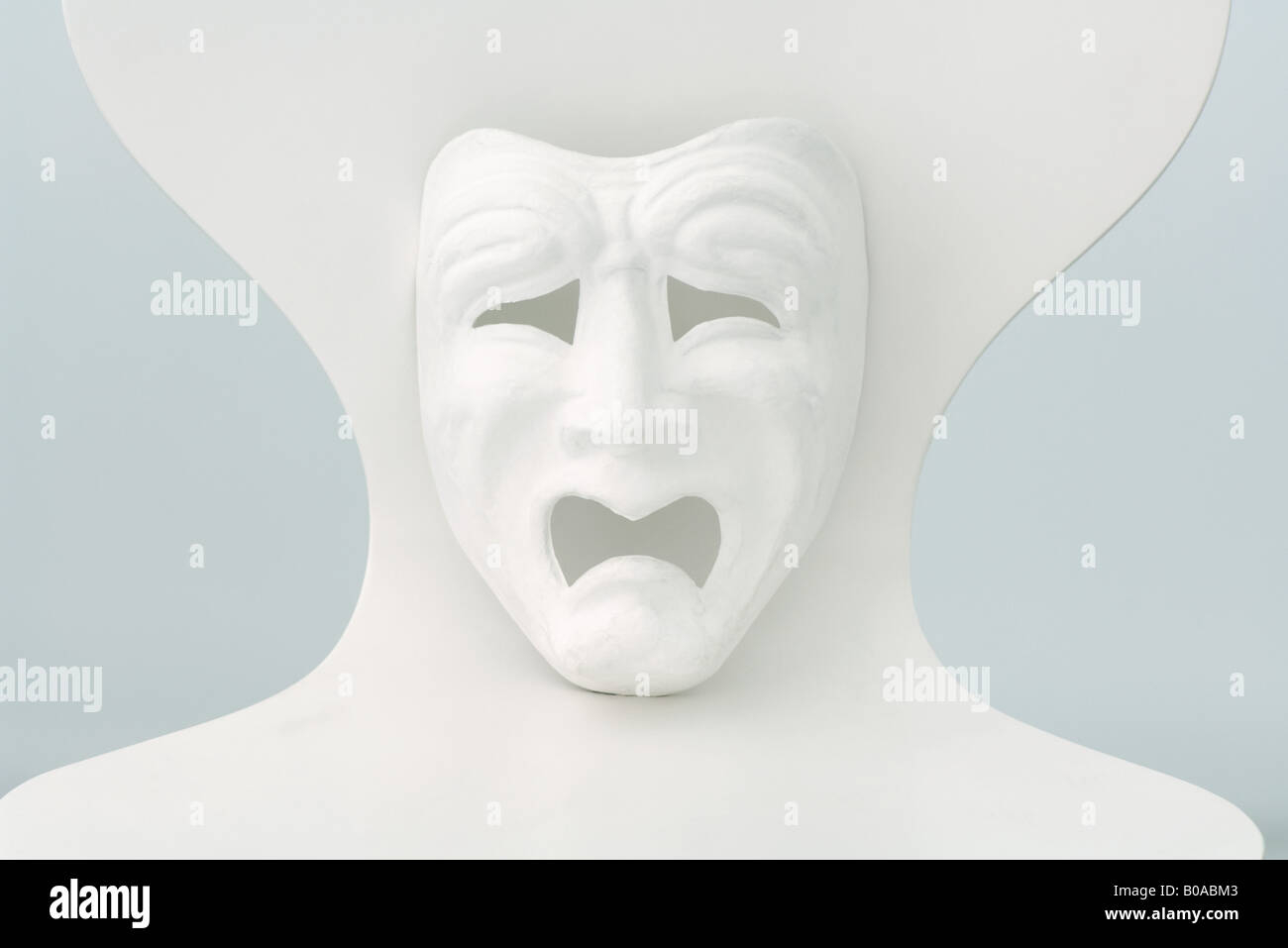 Tragedy mask - Stock Image