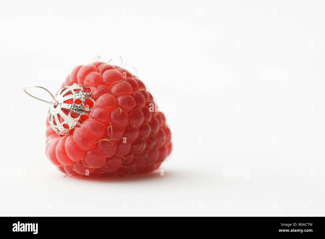 Raspberry ornament Stock Photo