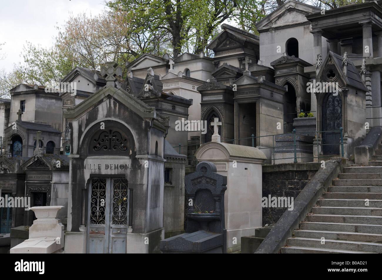 Père Lachaise Cemetery Paris France - Stock Image