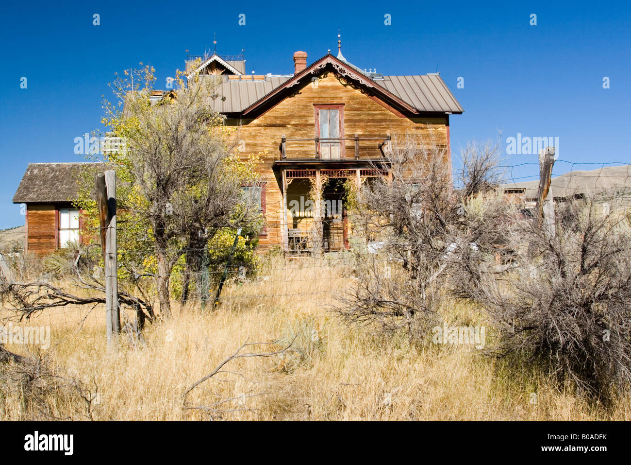victorian era house in ghost town, Montana Stock Photo
