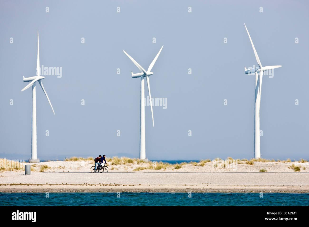 Off-shore Wind Turbines in Denmark - Stock Image