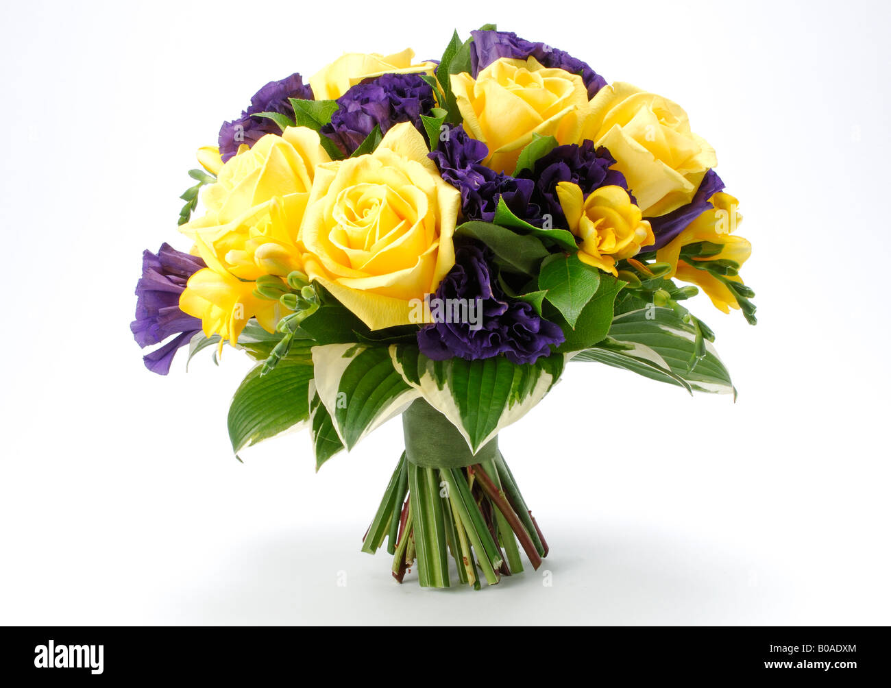 A bouquet of arranged flowers yellow roses hybrid tea rose and a bouquet of arranged flowers yellow roses hybrid tea rose and yellow freesia buds mightylinksfo