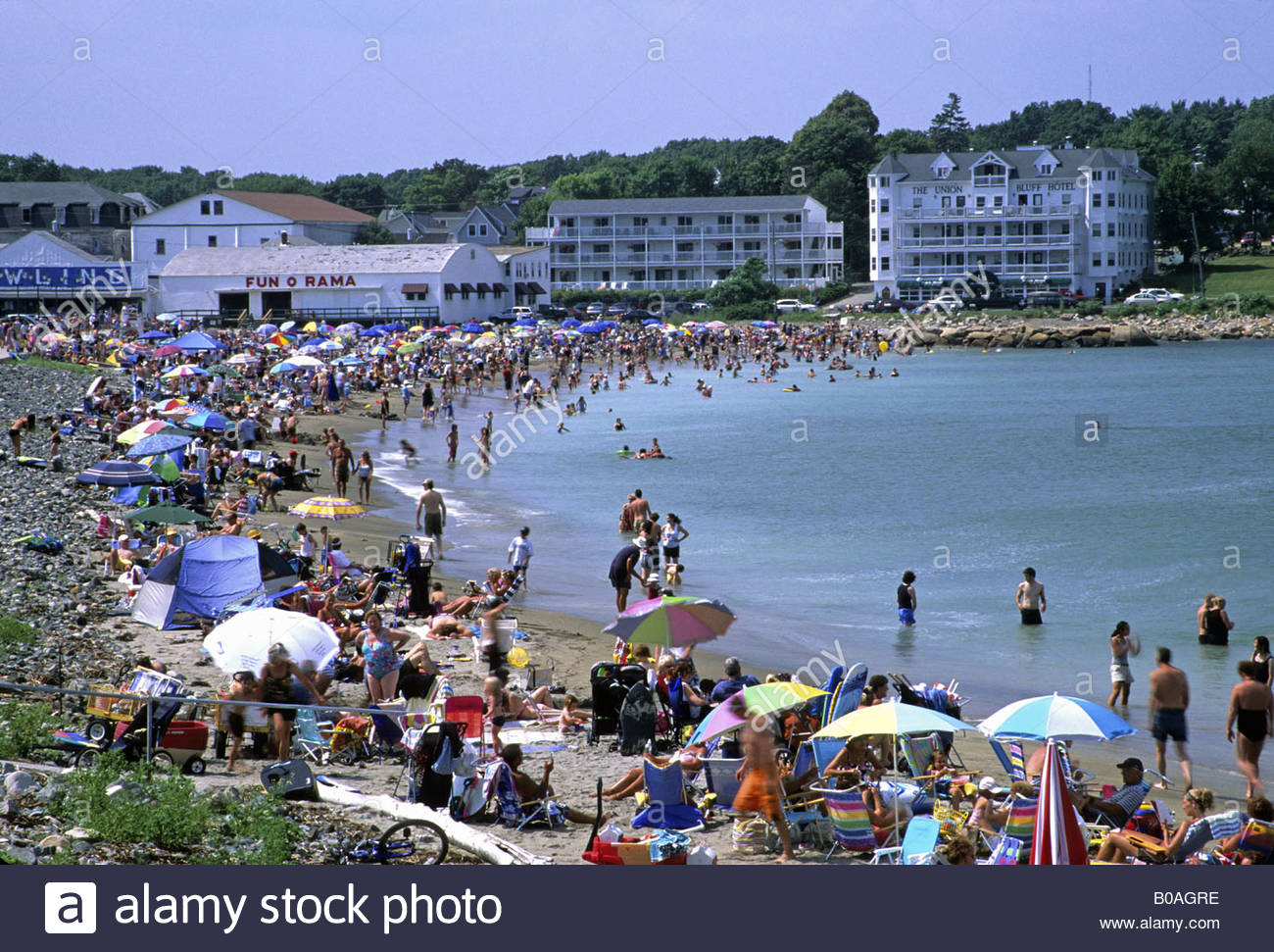 Short Sands Beach in York, Maine, USA - Stock Image