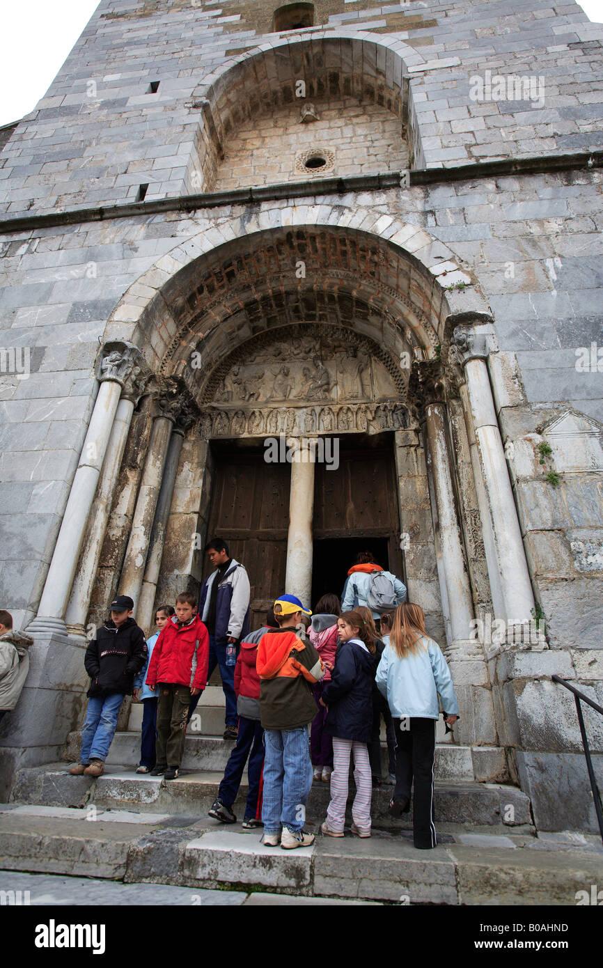 europe france haute garonne saint bertrand de comminges the cathedral - Stock Image