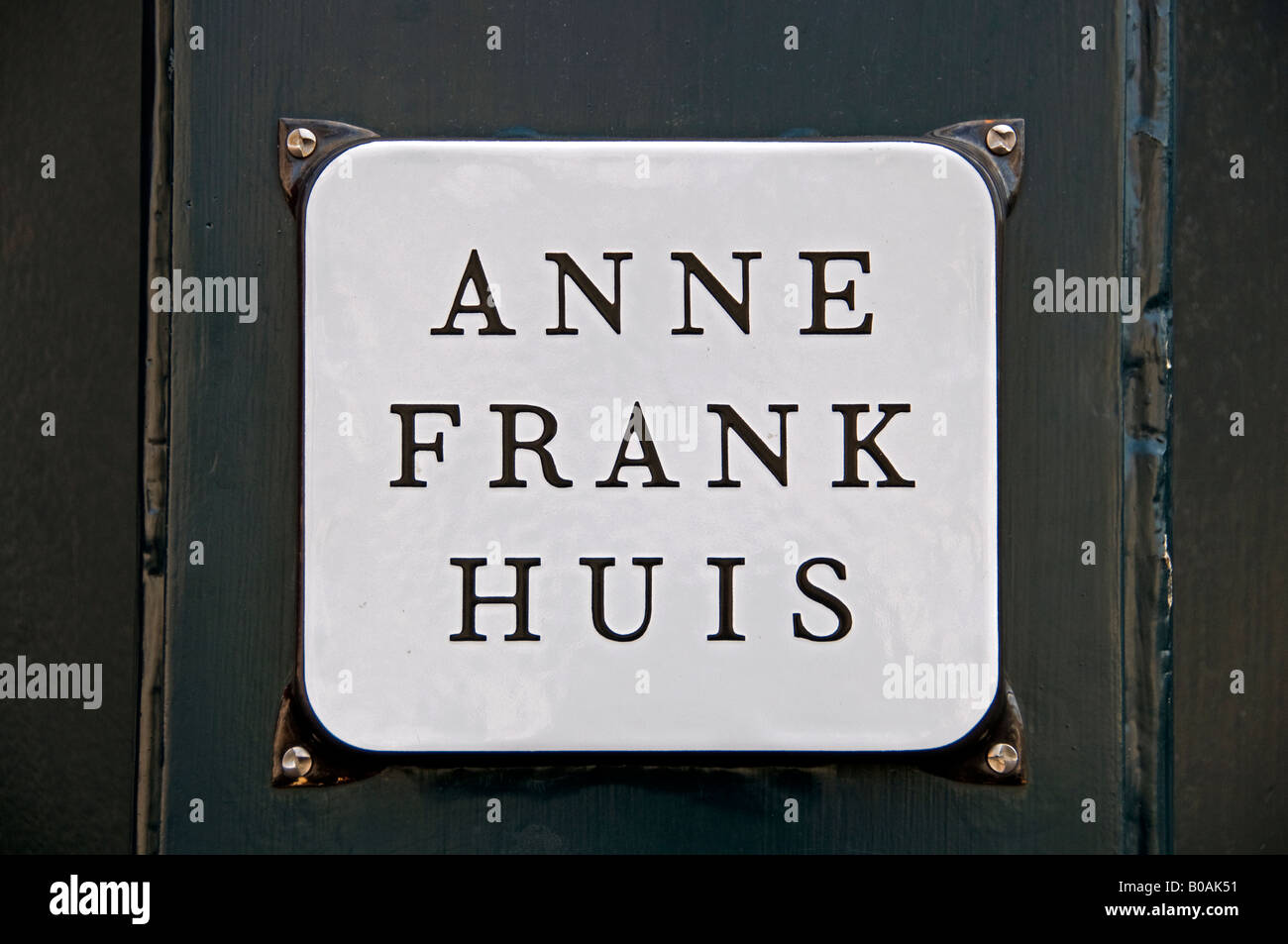 The Anne Frank House Prinsengracht  263-265 canal in Amsterdam the Netherlands (  museum dedicated to Jewish wartime - Stock Image