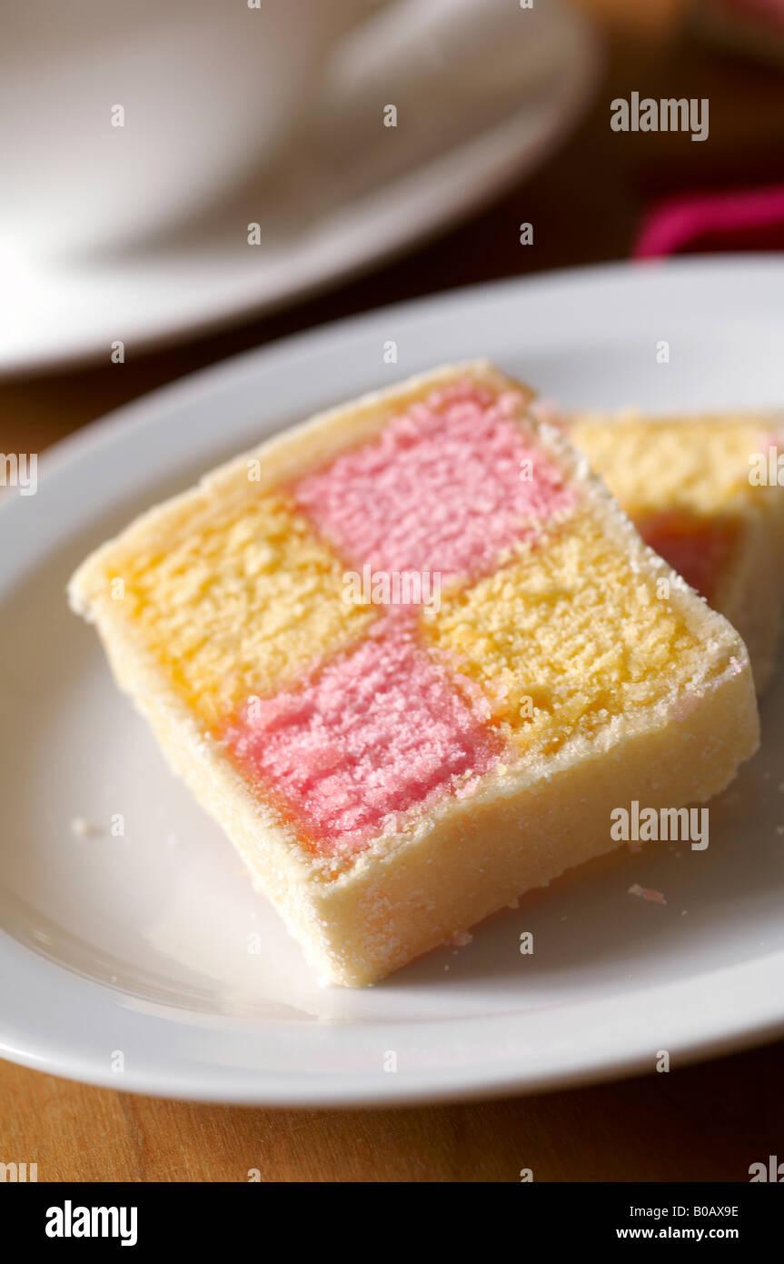 Battenberg Cake - Stock Image