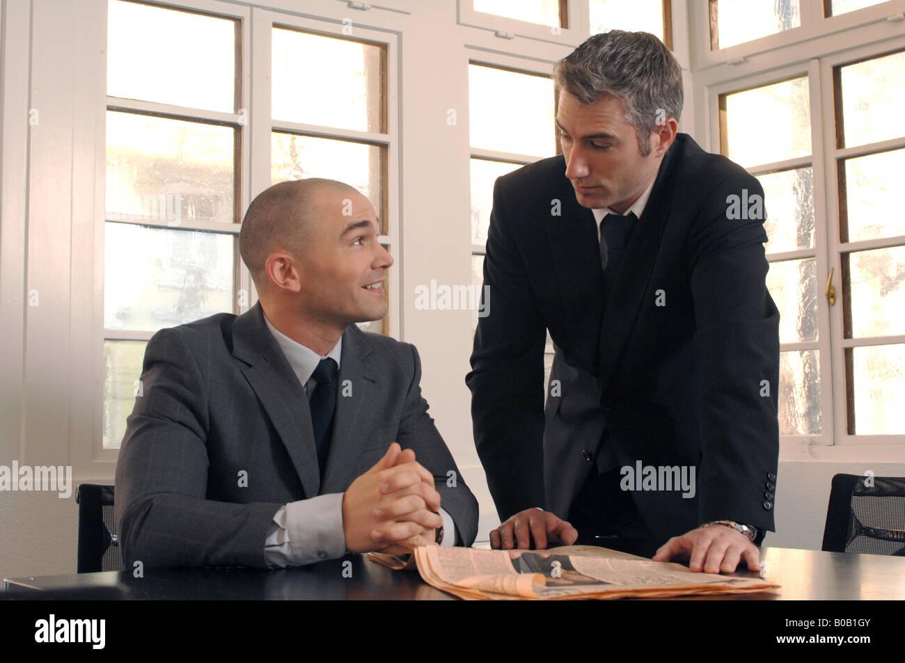 business men at work - Stock Image
