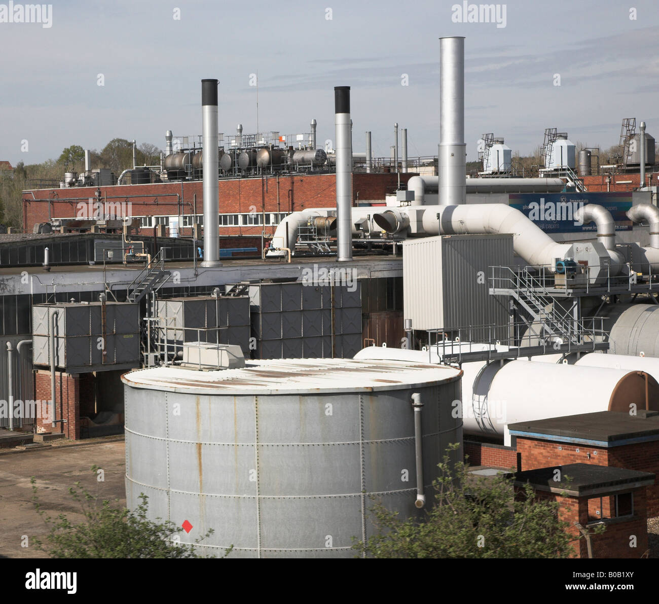 ICI chemical works Manningtree, Essex, England - Stock Image