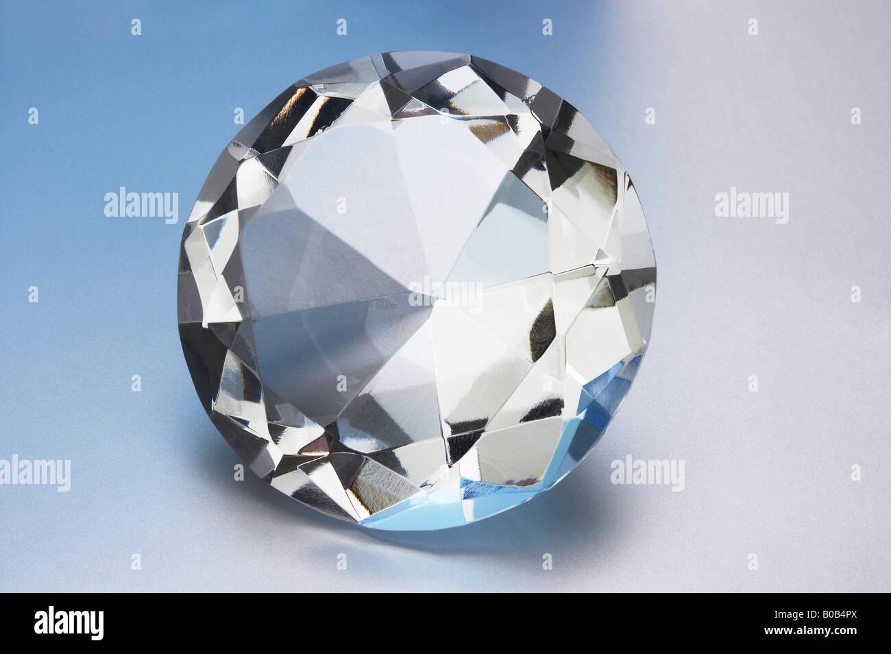 large brilliant cut diamond - Stock Image