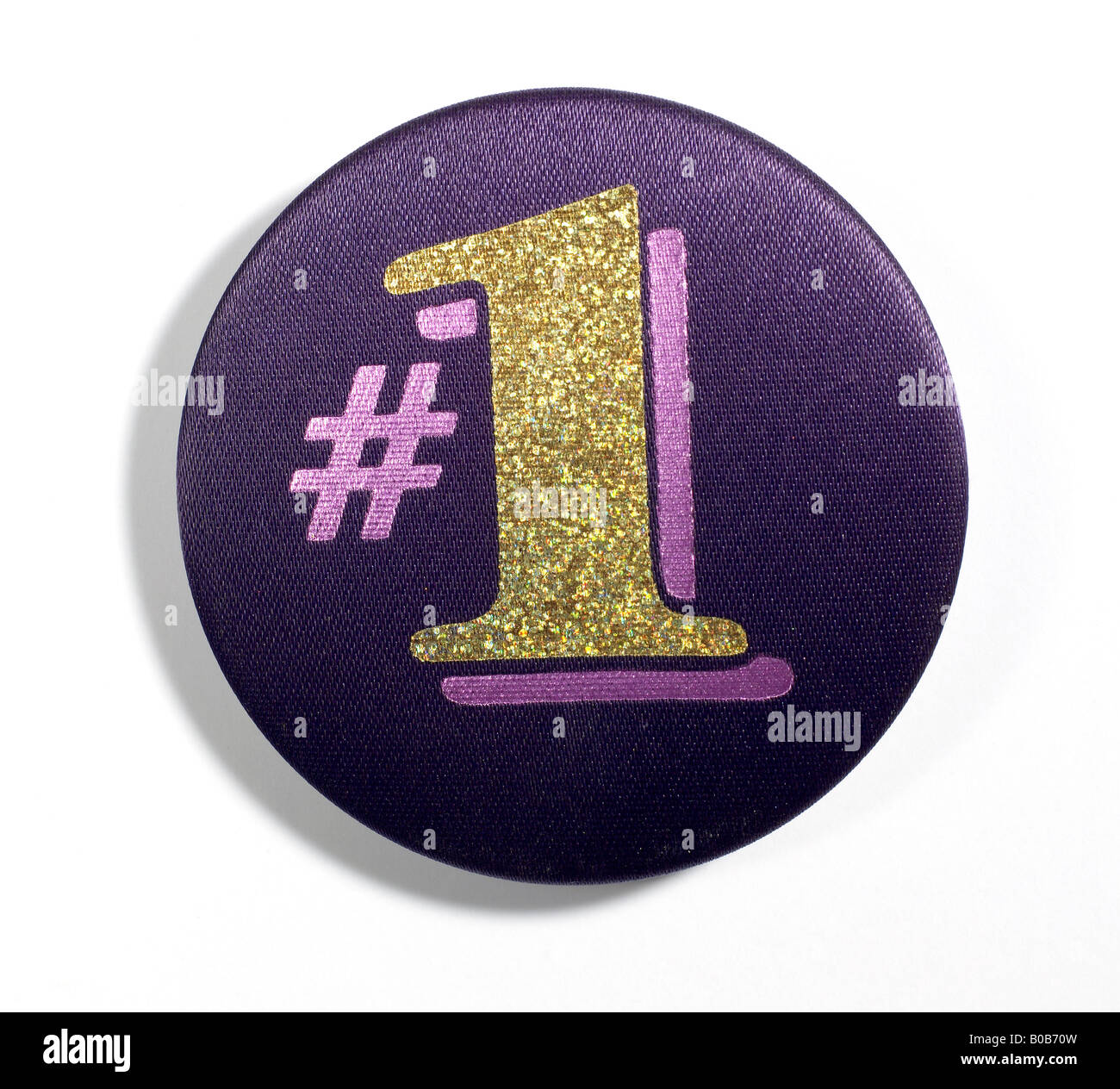 # 1 Button - Stock Image