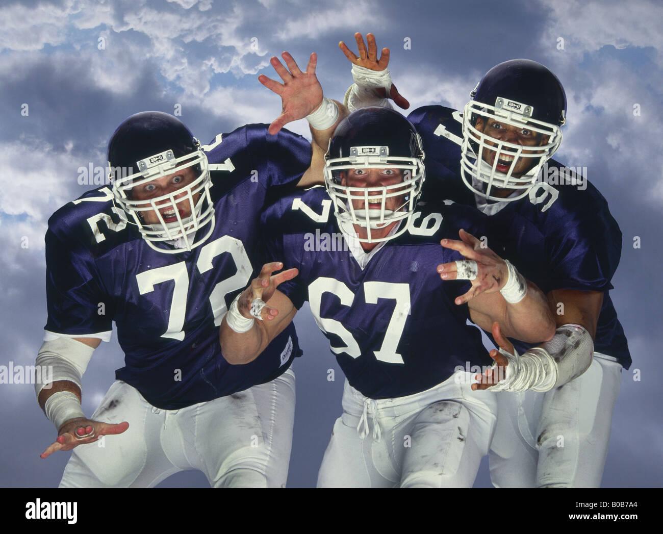 American football linesmen - Stock Image